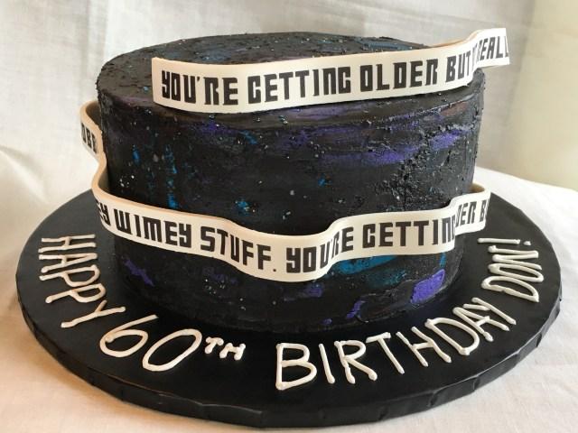 Finished galaxy cake
