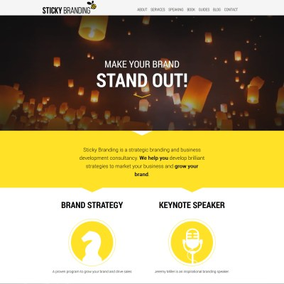 Sticky Branding Website