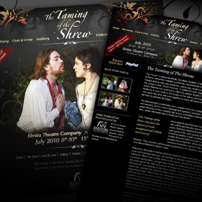 Taming of the Shrew Mini Website