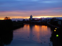 sunset river irwell2