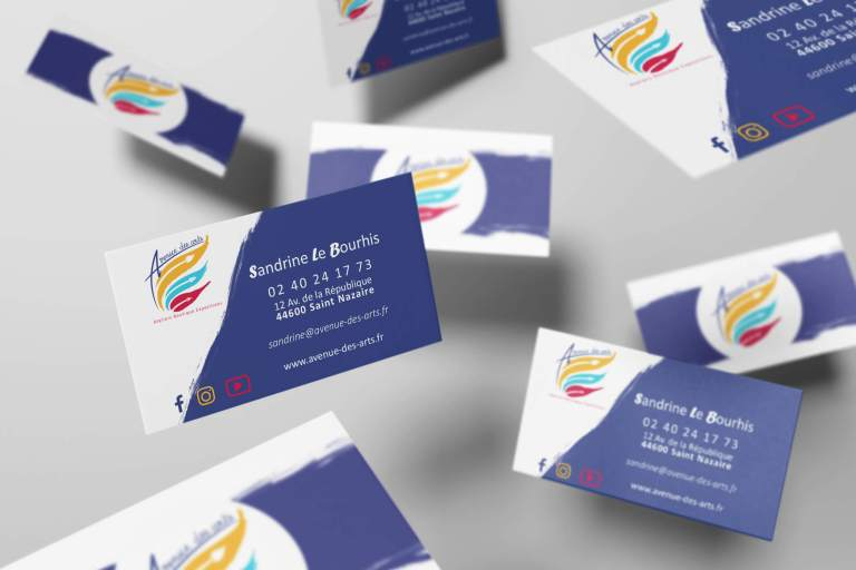 Design Graphisme identité visuelle Saint-Nazaire Communication Design & More and more carte de visite