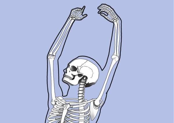 détail illustration numérique ballet squelette