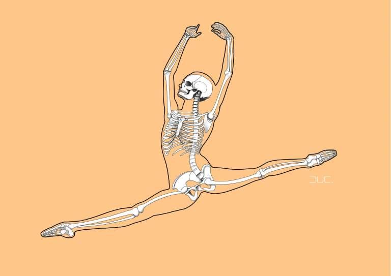 Grand jeté illustration ballet