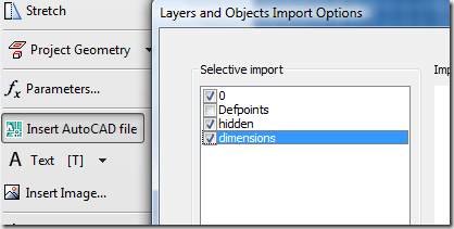 Inventor – DWG wizard Selective import is empty