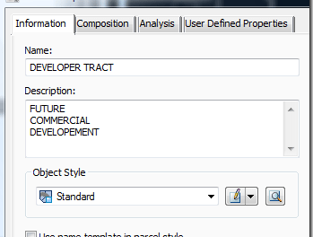 Civil 3D – Parcel label and 'Pretty' exhibit tip