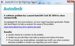 Civil 3D – 2010 Point Label style BUG REPORT