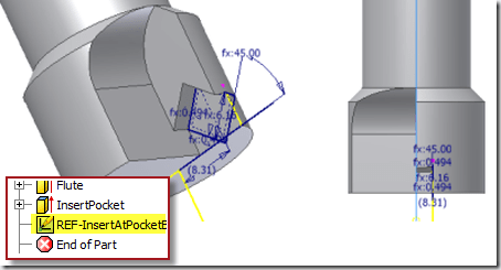 Inventor – Projected Geometry and Non-Orthogonal Planes