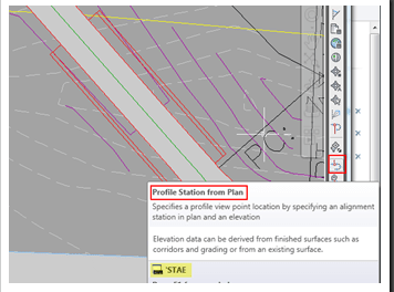 Civil 3D – Profile Station from Plan Tip