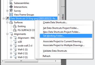 Civil 3D – 2011 Dref Working Folder