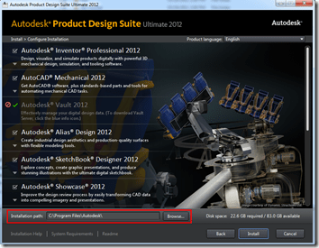 Autodesk Product Design Suite 2012 Configuration
