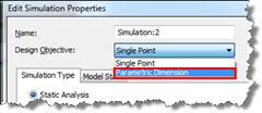 Inventor Simulation Parametric Dimension