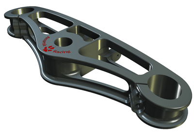 Amarok Racing Upper Triple Bracket by John Evans Design