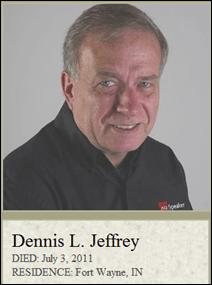 Dennis Jeffrey of Tekni Dies at age 64