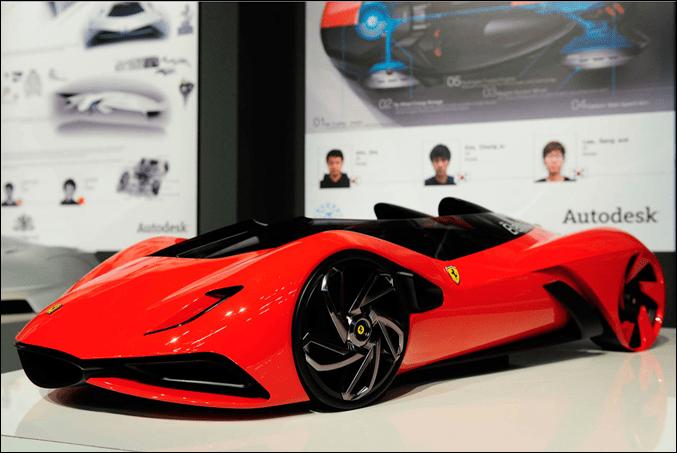 Ferrari World Design Contest 1st place Winner - Eternita Model