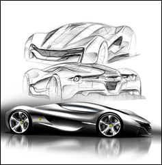 Ferrari World Design Contest 2nd Place Winner - Xezri Sketches