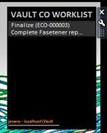 Vault | Change Order Worklist Gadget