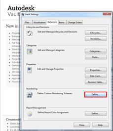Autodesk Vault Professional 2012 Numbering