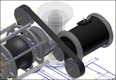 Autodesk Invnetor 2012 Synchrounous Belt Generator