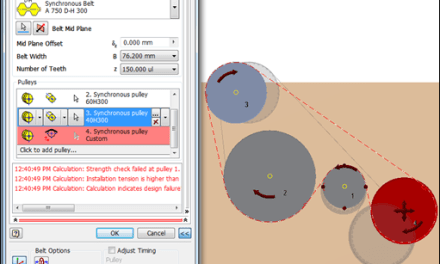 Inventor | Synchronous Belt Pulley Width Update Tip
