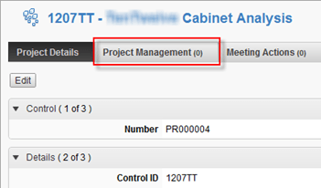 Autodesk PLM 360 Project Management Tab