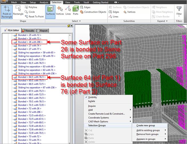 Simulation | Contact Surface Selection Beware