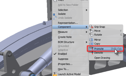 Inventor | Demote and Promote Assemblies