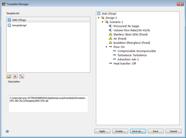Simulation CFD | 2013 Settings Template File