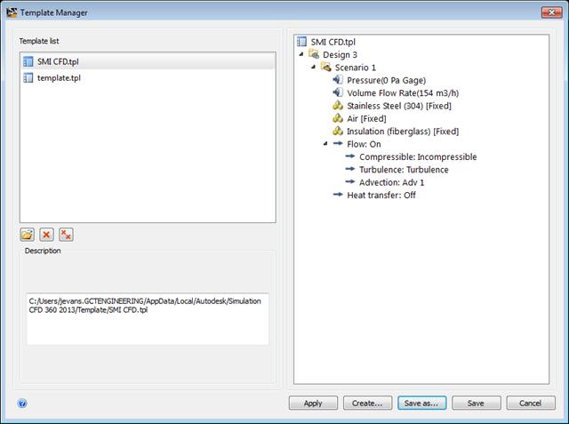 Simulation CFD   2013 Settings Template File