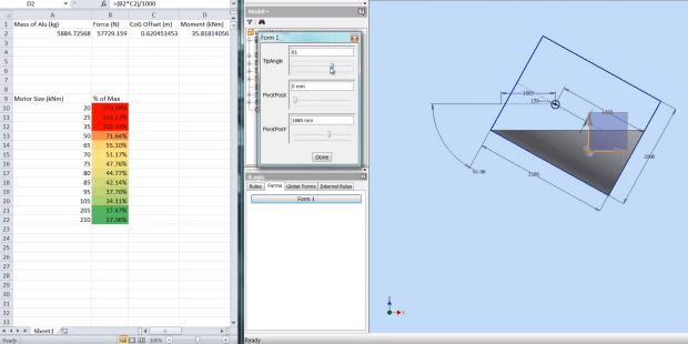 Inventor on roids! CAD and Excel have never worked this well together