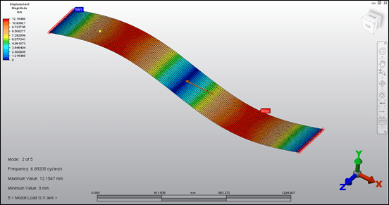 Autodesk Simulation Mechanical Natural Frequency