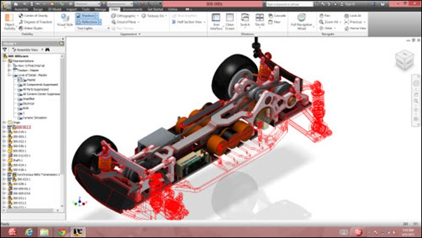 Lenovo Carbon X1 Touch RC Car on Inventor
