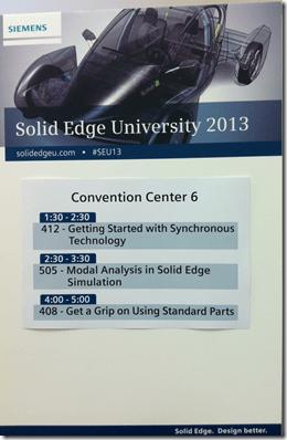 Solid Edge University 2013 Class