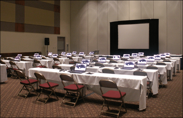 Just setup classes at Solid Edge University 2013