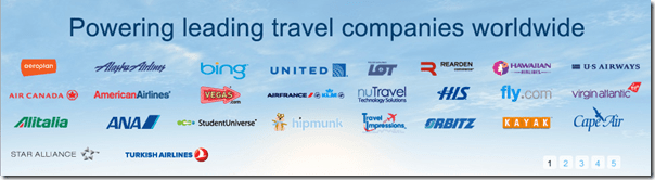 Airlines and travel agencies using ITA Software
