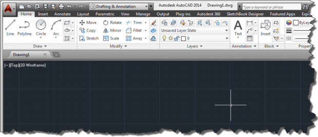 AutoCAD 2014 User Interface