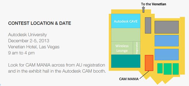 CAM MANIA at Autodesk 2013 map
