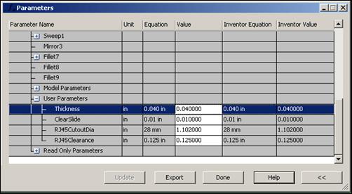Autodesk Simulation Mechanical 2013 Adjust Inventor Parameters