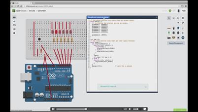 Autodesk 123D Circuits Breadboard