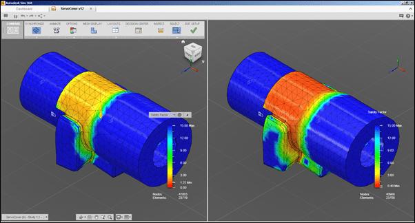 Autodesk Sim 360 Comparison Workspaces