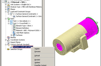 Tip for Contact Pairs in Autodesk Simulation Multiphysics