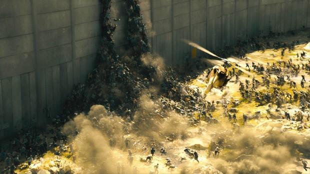 World War Z Zombies running & escalating wall