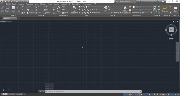 AutoCAD 2015 Modern UI