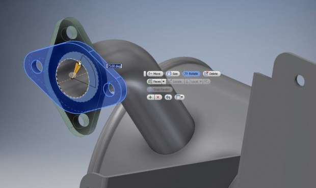 Autodesk Product Design Suite 2015 Direct Edit Flange
