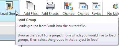 Autodesk Vault 2015 Load Group from Vault Revit Dialogue