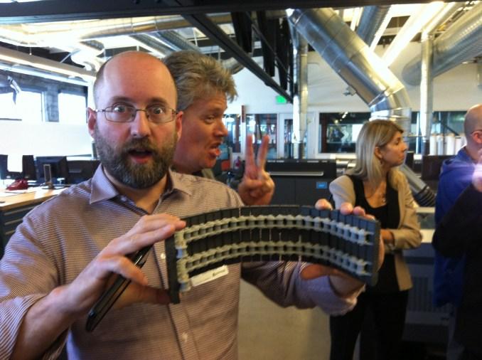 Autodesk Workshop at Pier 9 Paul Munford 3D printed track