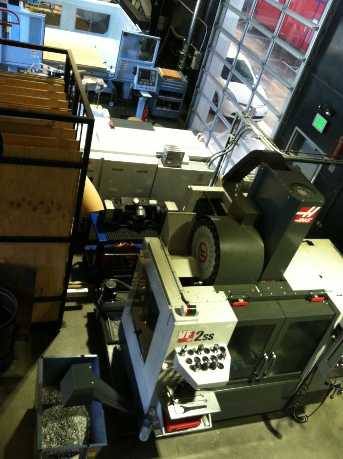 Autodesk Workshop at Pier-9 Haas 5 Axis CNC Mill