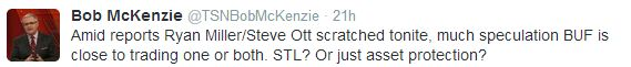 Bob Mackenzie Tweet