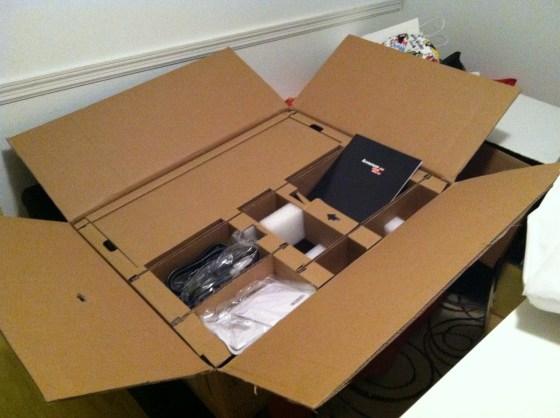Lenovo 30 inch Monitor Box Contents