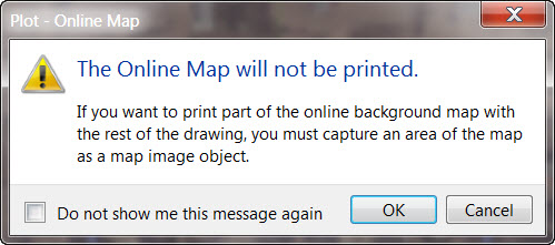 AutoCAD 2015 - Online Map Does Not Plot