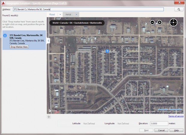 AutoCAD 2015 - Specify Geolocation